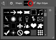 Open Custom Shape Picker in Photoshop.