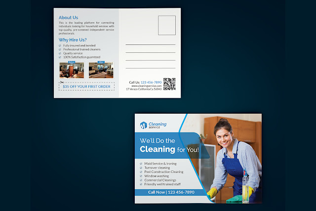 Cleaning-Service-Postcard-Template Cleaning Service Postcard Template Free Download download