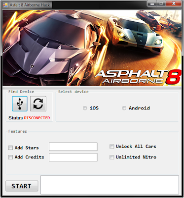 Asphalt 8 Airborne Hack/cheat tool Android/iOS