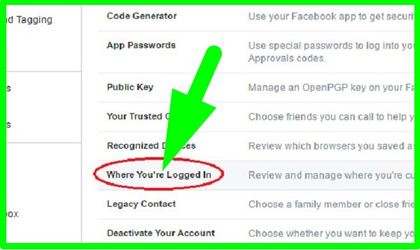 how to logout facebook account remotely