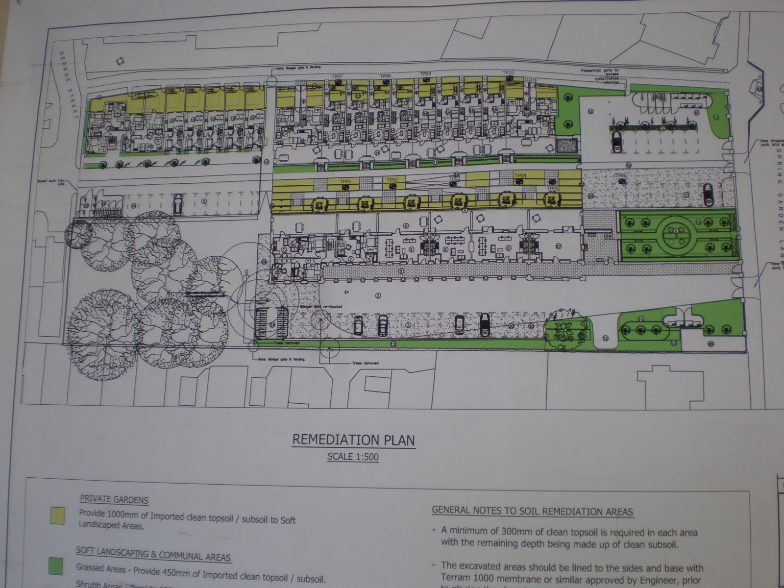 Plans for the renovated station