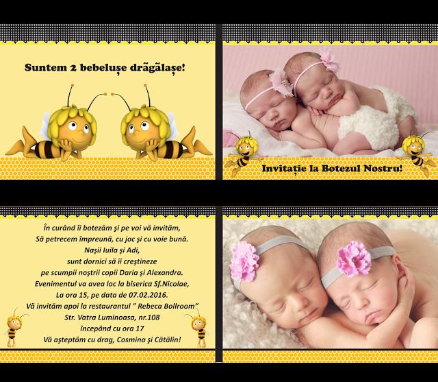 produse asortate botez gemeni fata-fata Albinute