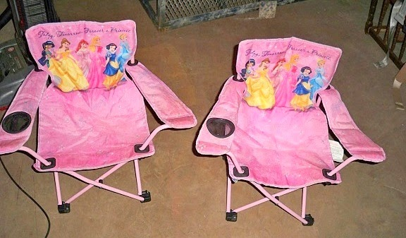 Disney Princess Fold and Go Patio Chairs (Oklahoma City Craigslist Garage Sales) $10