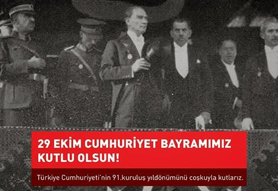 Türkiye Cumhuriyetinin 91. Kuruluş Yıldönümü