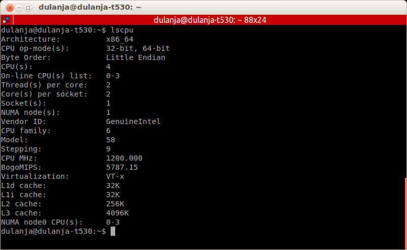 D's (B)log: How to check the number of CPU cores in Linux