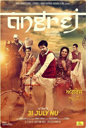 Angrej 2015 Punjabi 120mb DVDRip HEVC Mobile punjabi movie compressed small size mobile movie free download at https://world4ufree.ws