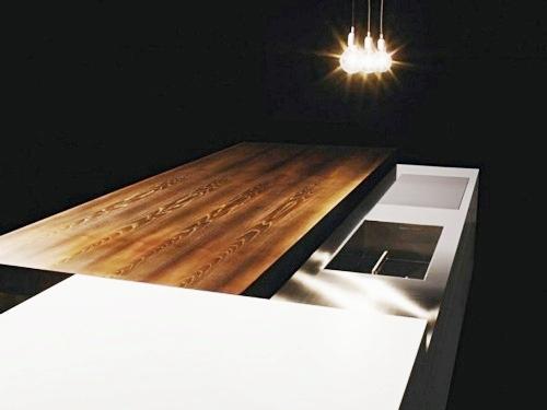 kitchen counter ideas glass tile backsplash una encimera deslizante que oculta la cocina - cocinas con ...
