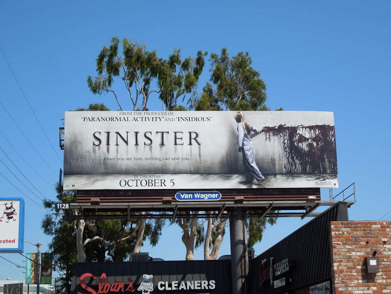 Sinister movie billboard