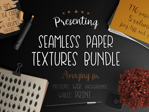 Download 5 Seamless Paper Textures Free
