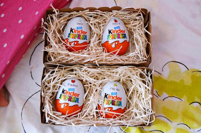 huevos de chocolate kinder con mensajes especiales - blog infantil mama de noa
