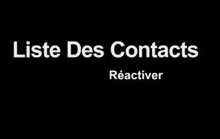 """la liste des contacts """"android"""""""