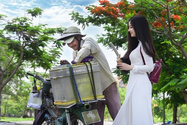 Quỳnh Trâm thướt tha trong tà áo trắng nữ sinh khi mùa phượng vĩ về -8