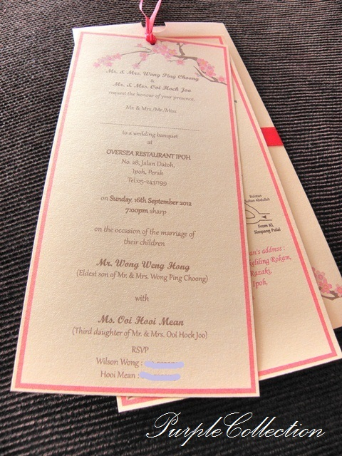 Cherry Blossom Sakura Pocket Wedding Invitation Card, sliding pocket, ivory gold card, ivory gold, metallic red envelope, cherry blossom sakura, cherry card, blossom card, sakura card, pocket card, wedding card, invitation card, pocket wedding invitation card, wedding invitation card, cherry, blossom, sakura, pocket, hooi mean and weng hong, hooi mean, weng hong
