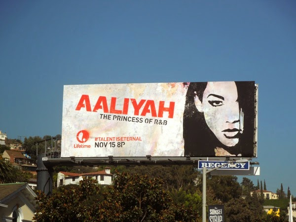 Aaliyah Lifetime TV movie billboard