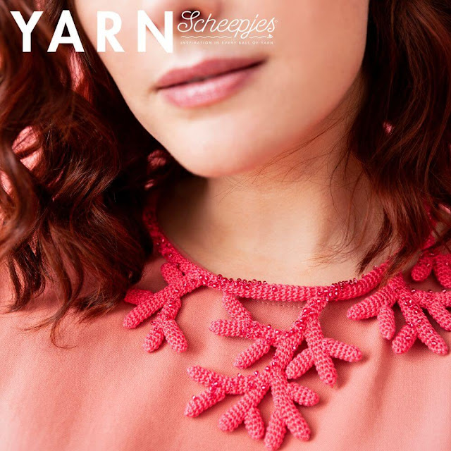 Staghorn Necklace by Carmen Jorissen  Yarn: Scheepjes Maxi Sweet Treat*  Website: New Leaf Designs
