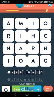 WordBrain 2 soluzioni: Categoria Oceano (4X4) Livello 3