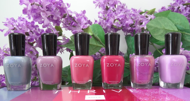 zoya thrive nail polish collection spring 2018