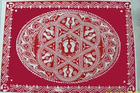 lakshmi pada rangoli