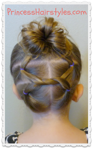 Fine Cute Hairstyles Shoelace Knot Bun And Pigtails Hairstyles For Short Hairstyles Gunalazisus