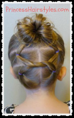 Enjoyable Cute Hairstyles Shoelace Knot Bun And Pigtails Hairstyles For Short Hairstyles For Black Women Fulllsitofus