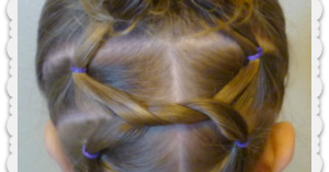Cute Hairstyles Shoelace Knot Bun And Pigtails