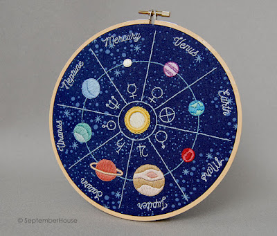 Solar System Planets Embroidery pattern for hand embroidery by SeptemberHouse