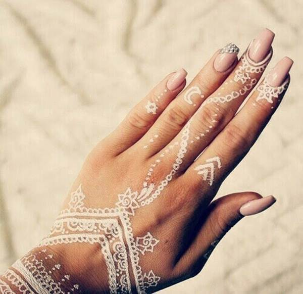 These white henna inspired temporary tattoos are gorgeous for White temporary tattoos