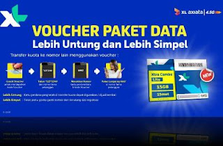 Cara transfer data paket internet xl combo