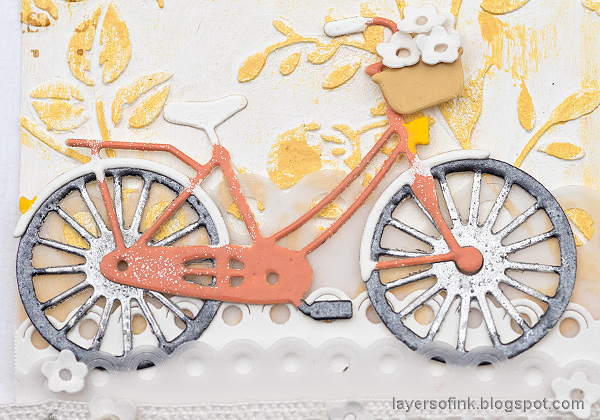 Layers of ink - Multi-Color Embossing Tutorial by Anna-Karin Evaldsson. Simon Says Stamp Classic Bicycle.