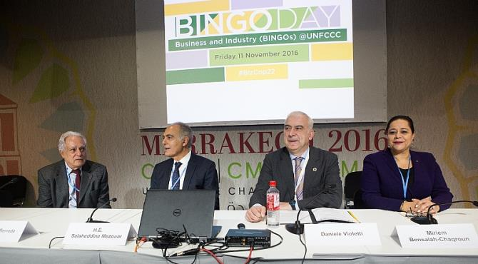 "Marrakech, 12 November, 2016 – From Iowa windfarms to Delhi train networks, panels at the Business and Industry ""BINGO"" Day at the United Nations Framework Convention on Climate Change (UNFCCC)"