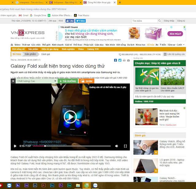 Bài đăng có chèn video trên trang vnexpress