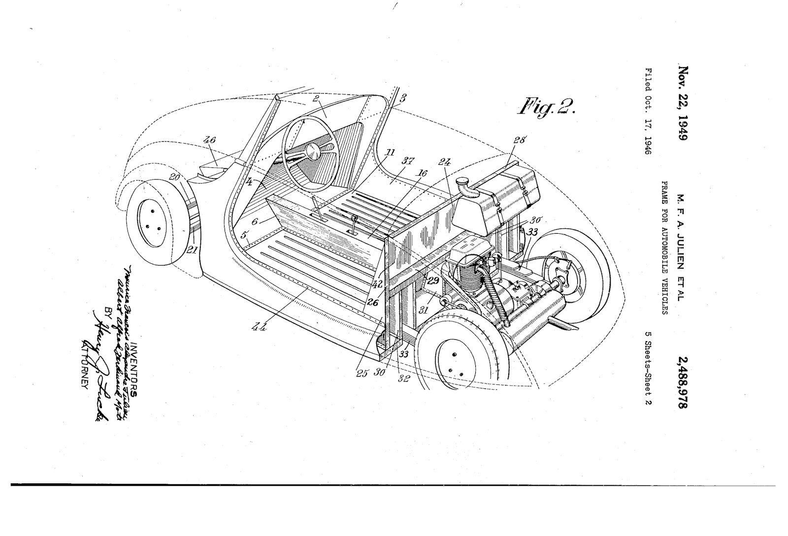 Heinkel Scooter Project 1935 Maier Leichtbau 1980 Ferrari Gtb Engine Diagram A Copy Of The Car Patent Showing Design Details Including Original Layout