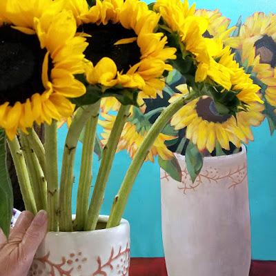 sunflower-surprise-large-acrylic-sunflower-painting-merrill-weber