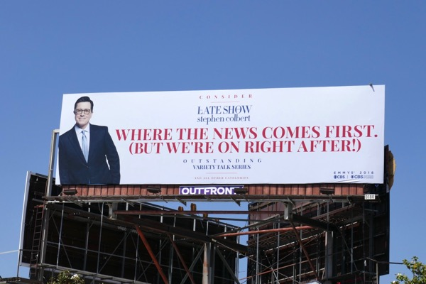Stephen Colbert news comes first Emmy FYC billboard