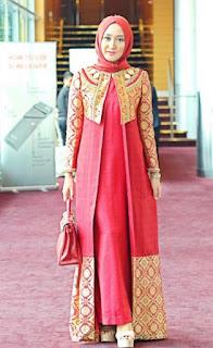 Baju batik muslim songket dian pelangi