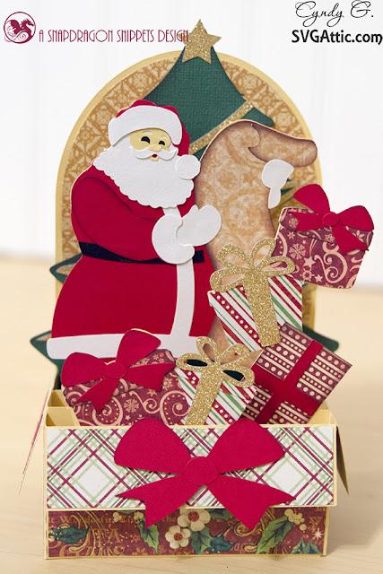 Santa box card