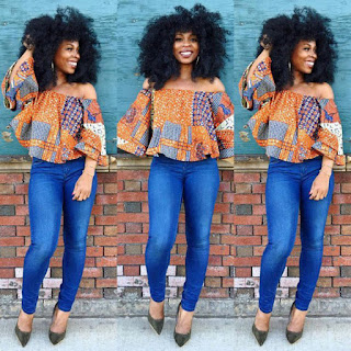 ankara blouses on jeans (6)