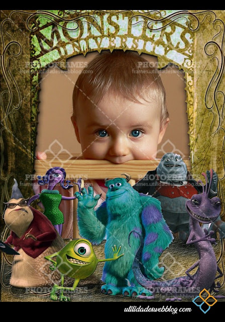 Child`s Monster inc Selfie Frame