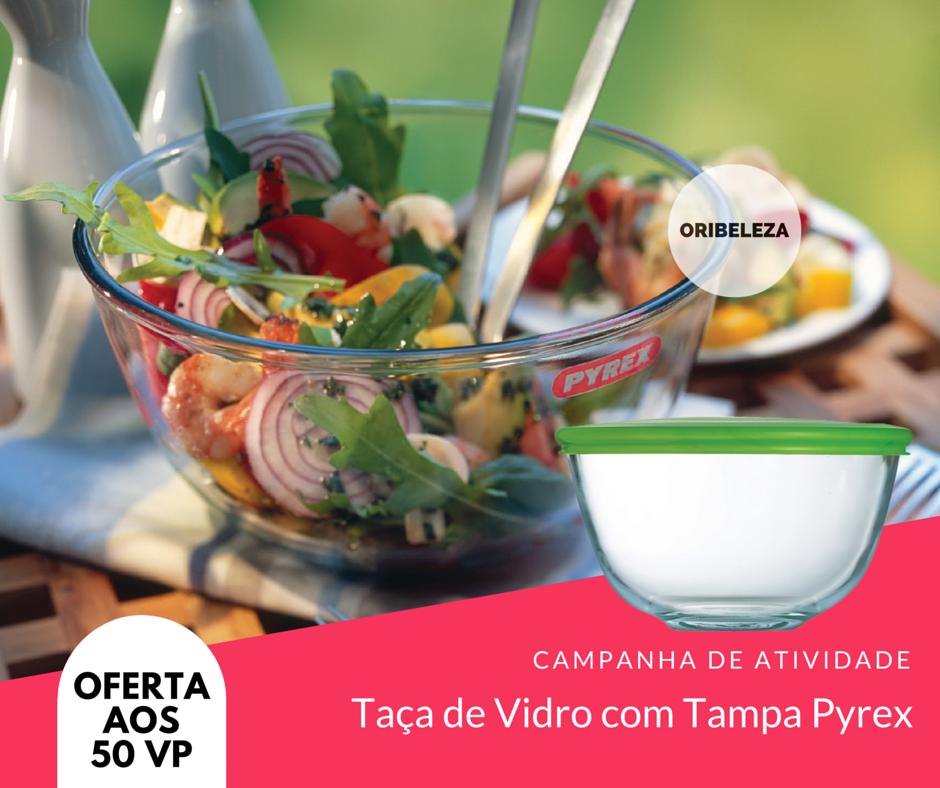 Taça de Vidro com Tampa Pyrex