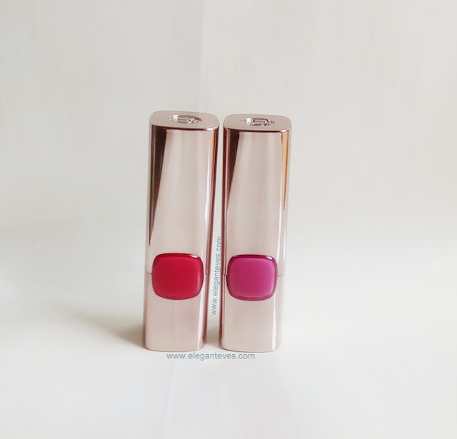 Review/ Swatches of L'oreal Paris Moist Matte Lipsticks Lincoln Rose and Glamor Fuchsia