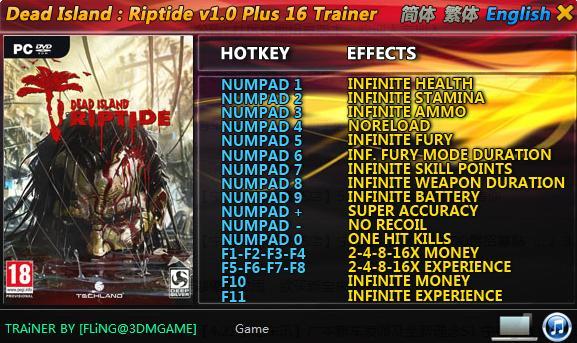 Dead Island Riptide Cheats Codes Pc