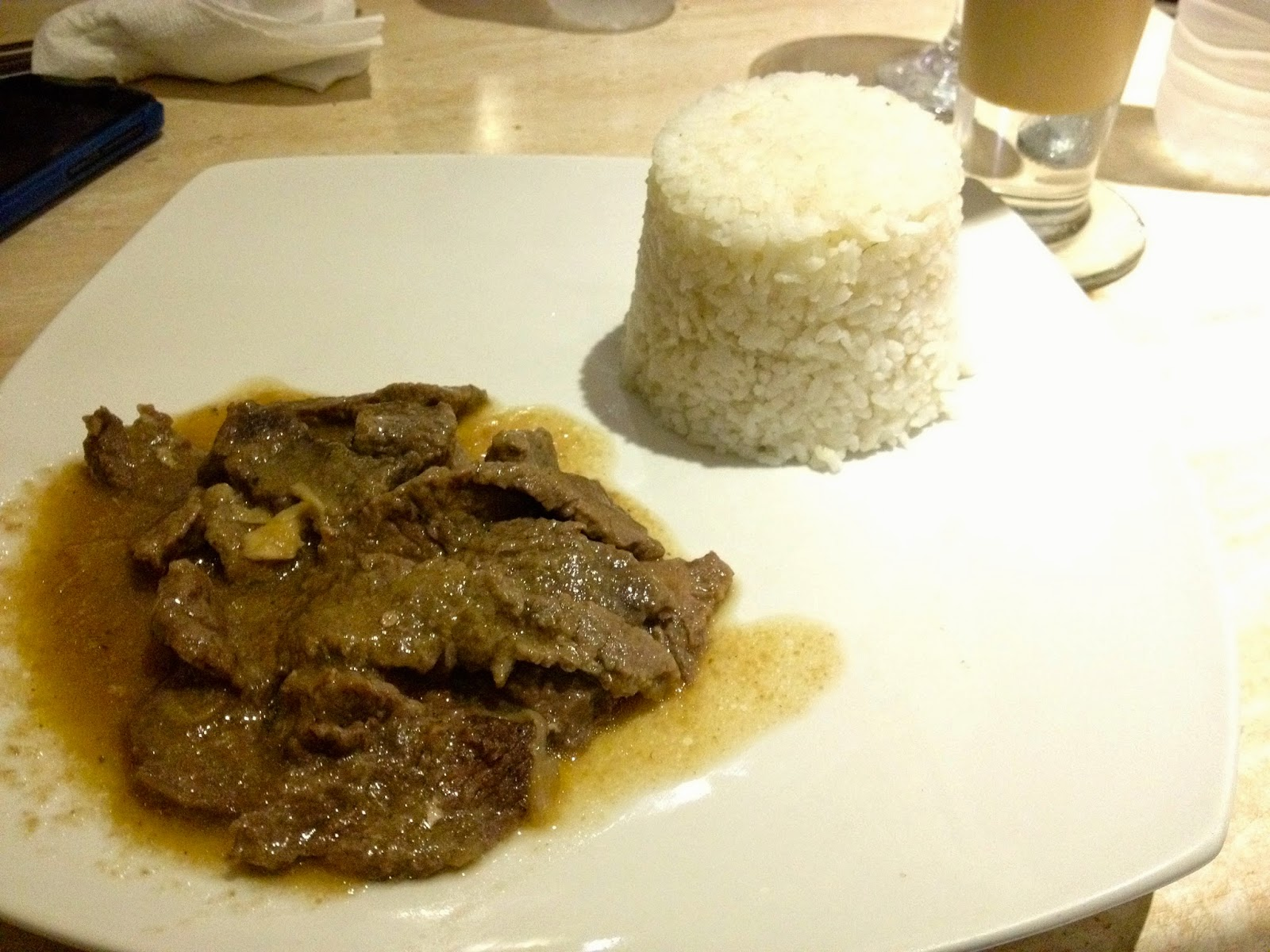 Ostrich meal at Camia Street Cafe Cebu