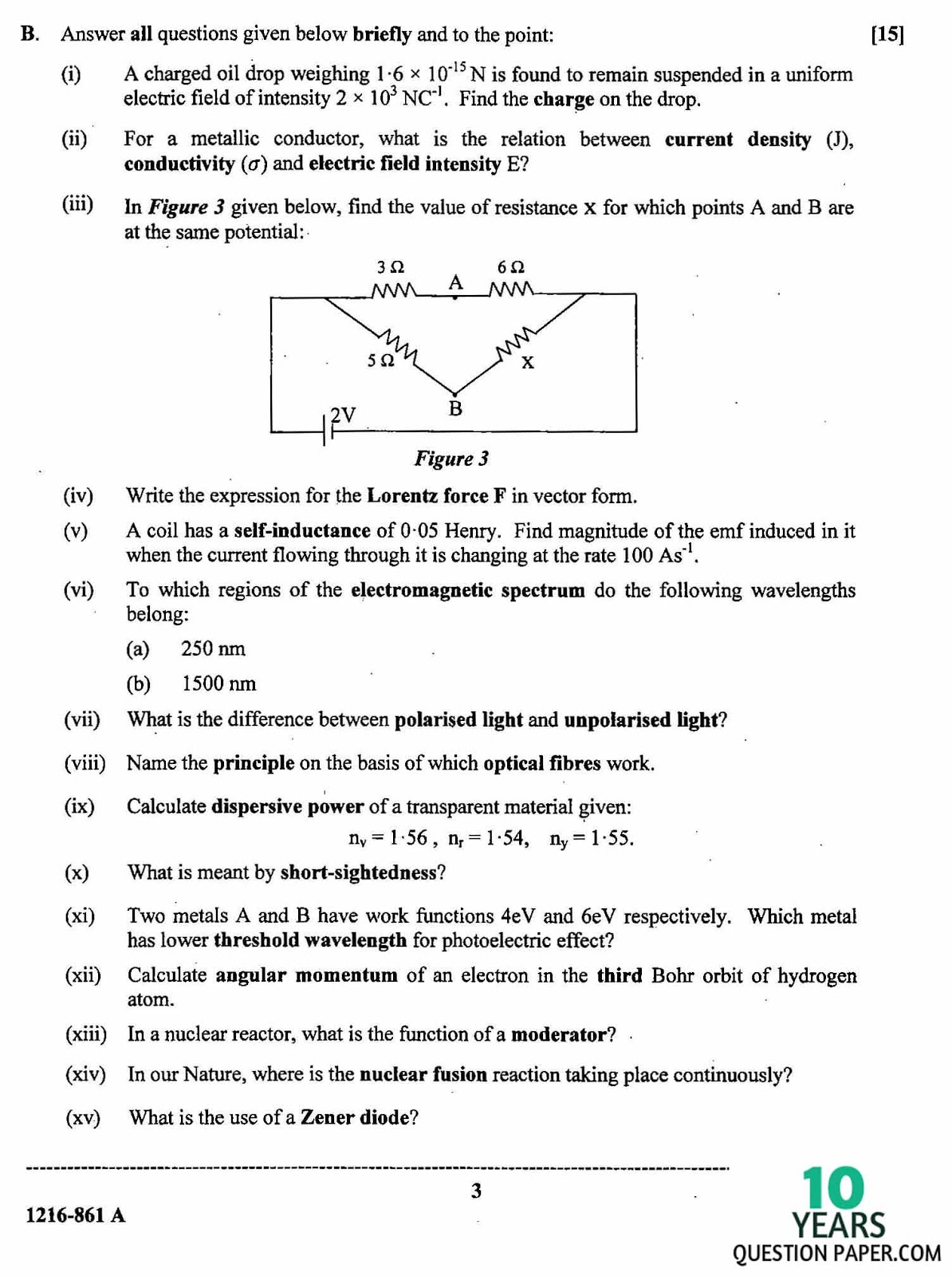 Physics GCE O Level Topical Yearly Past Papers