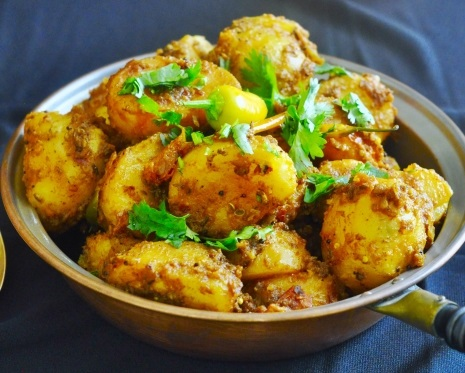 Spiced Curry Baby Potatoes