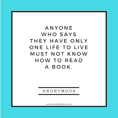 Anyone who says they have only one life to live must not know how to read a book. #books