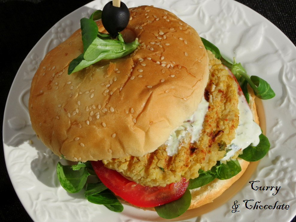 Hamburguesa de garbanzos y cous cous - Chickpea and couscous burgers