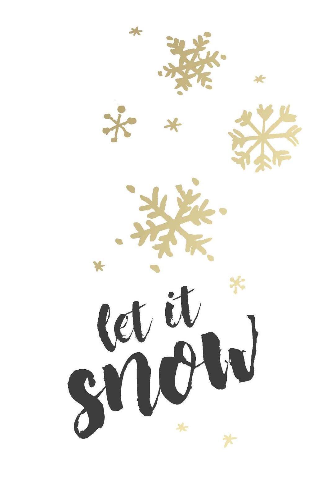 Snow Christmas Card