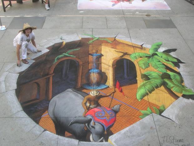 Sidewalk Artist - Tracy Lee Stum Art