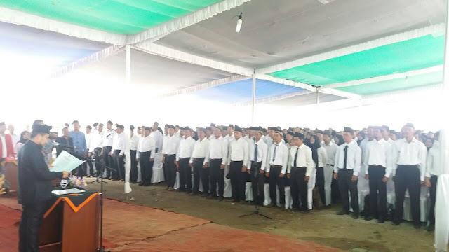 PPS OKI Di Lantik, Ketua KPUD ; Hak Politik Sudah Dibatasi