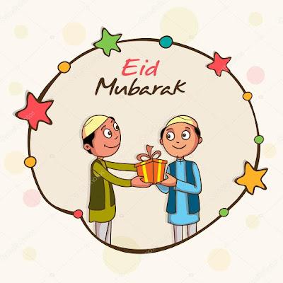 Eid Mubarak Cards For Kids